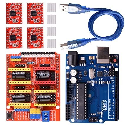 Longruner GRBL CNC Shield Expansion Board V3 0 +UNO R3 Board + A4988  Stepper Motor Driver with Heatsink for Arduino Kits (Arduino Kits)