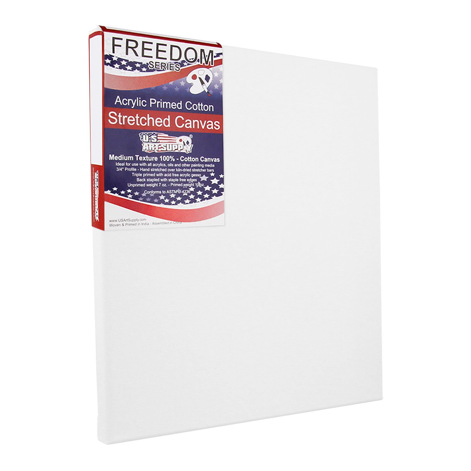 3//4 Profile 12 Ounce Primed Gesso US Art Supply 8 x 8 inch Professional Quality Acid Free Stretched Canvas 6-Pack 1 Full Case of 6 Single Canvases