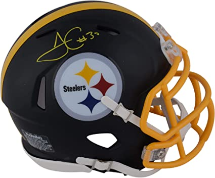 2ae15d9d02e James Conner Pittsburgh Steelers Autographed Riddell Black Matte Alternate  Speed Mini Helmet - Fanatics Authentic Certified