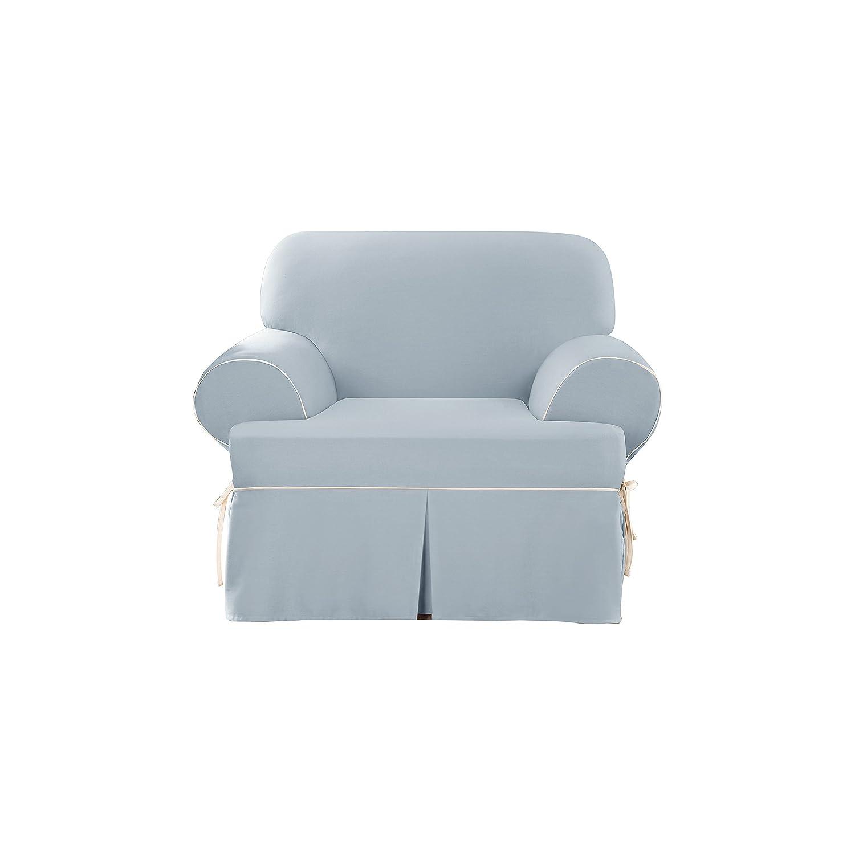 Amazon Sure Fit Cotton Duck Chair Slipcover Sky Blue
