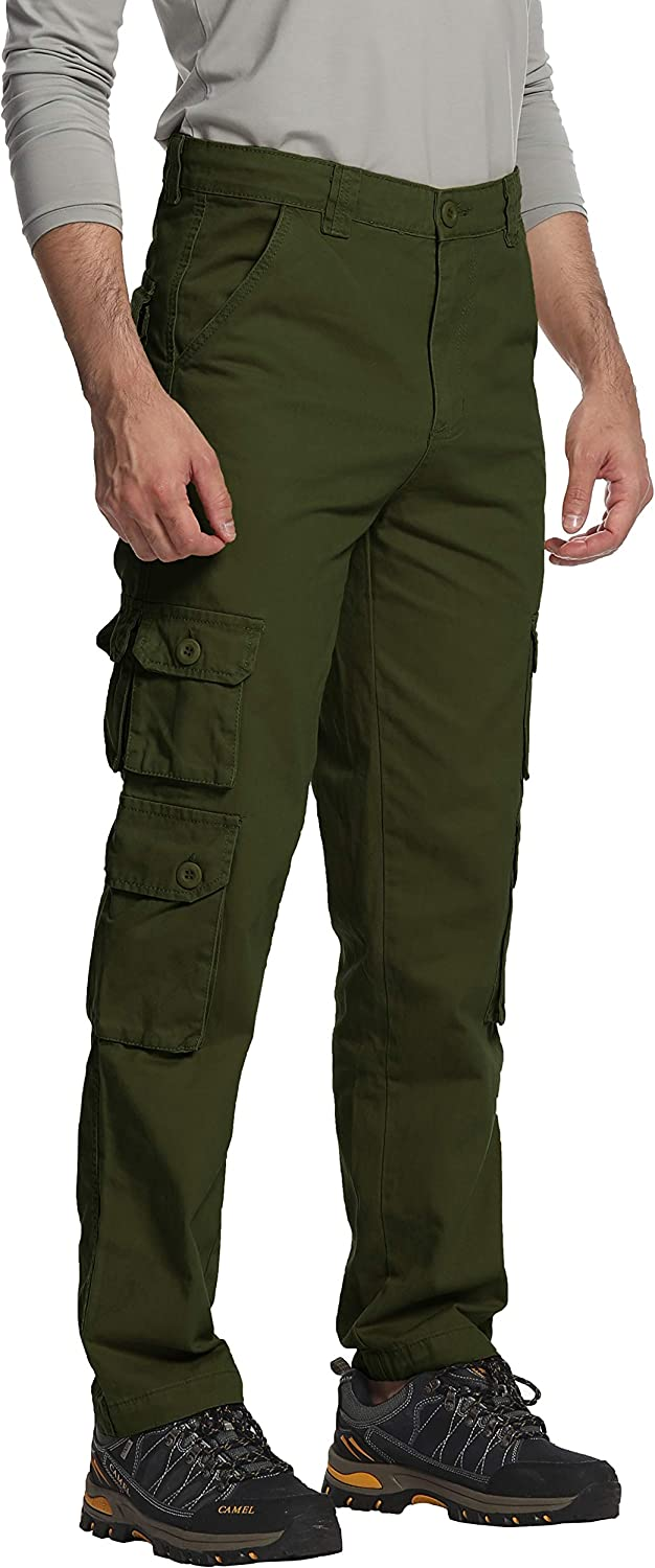 Men/'s Cargo Combat Pants Work Army Military Multi Pockets Gym Jogger Trousers