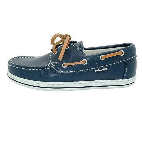 b19f9e0e PABLOSKI Boys' Boat Shoes Blue Blue Blue Size: 1: Amazon.co.uk ...