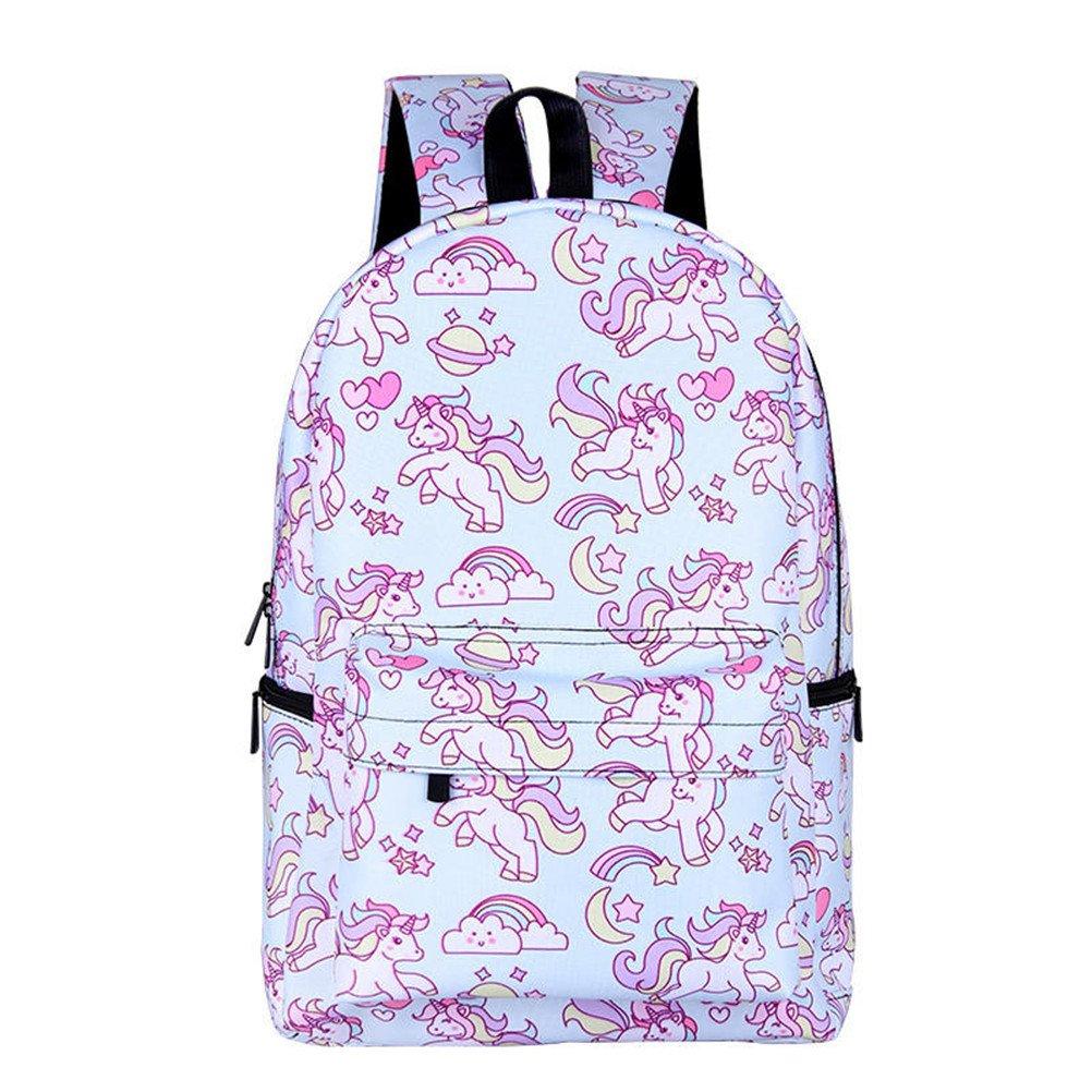 kalakk Cute Bunnyバックパックfor Teenage Girls Kawaii Rabbit ChildrenスクールBags Womenノートパソコンバックパック  17qyh09 B07FTHBYXV