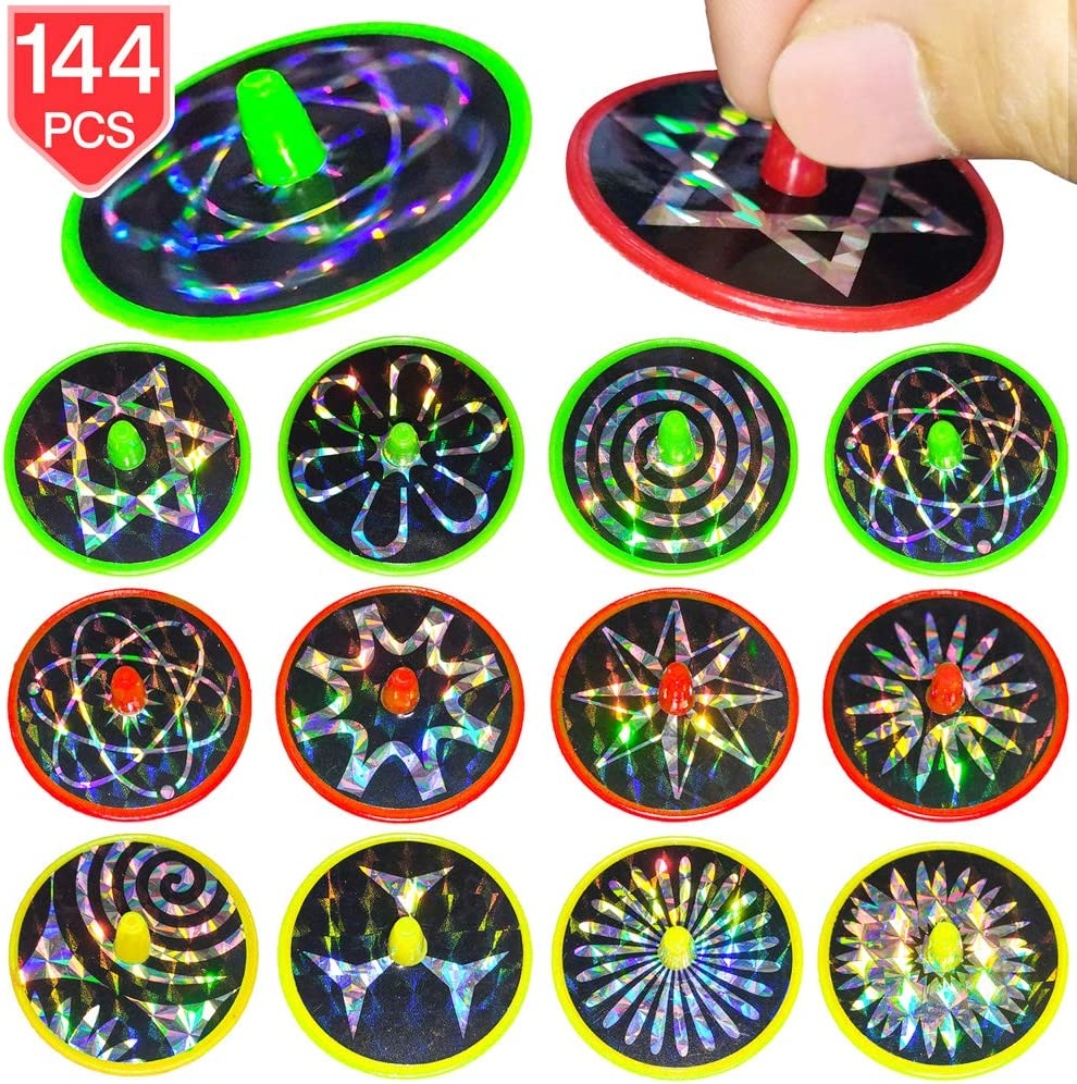 Spin Tops Bulk Pack Party Favor Toy Of 144 Spinning Tops