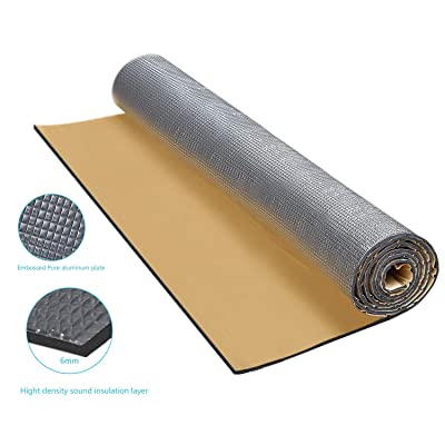 "Guteauto 236 mil 15 sqft Sound Deadening Deadener Insulation Mat Automotive Deadener Wall Soundproofing Foam Panels 55"" x 39"" (55"" x 39""): Automotive"