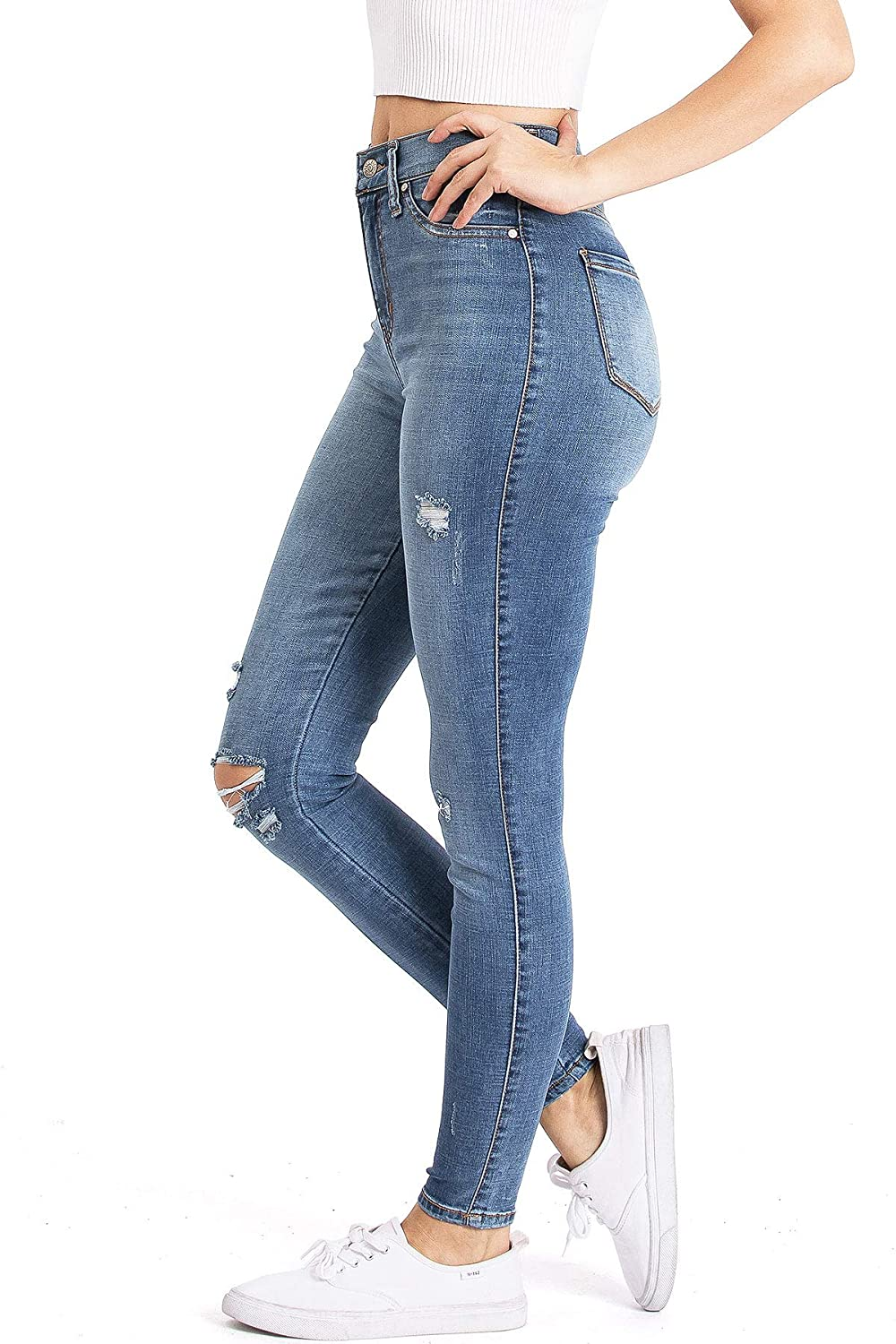 Celebrity Pink Jeans Womens Juniors High Rise Ankle Skinny Jeans