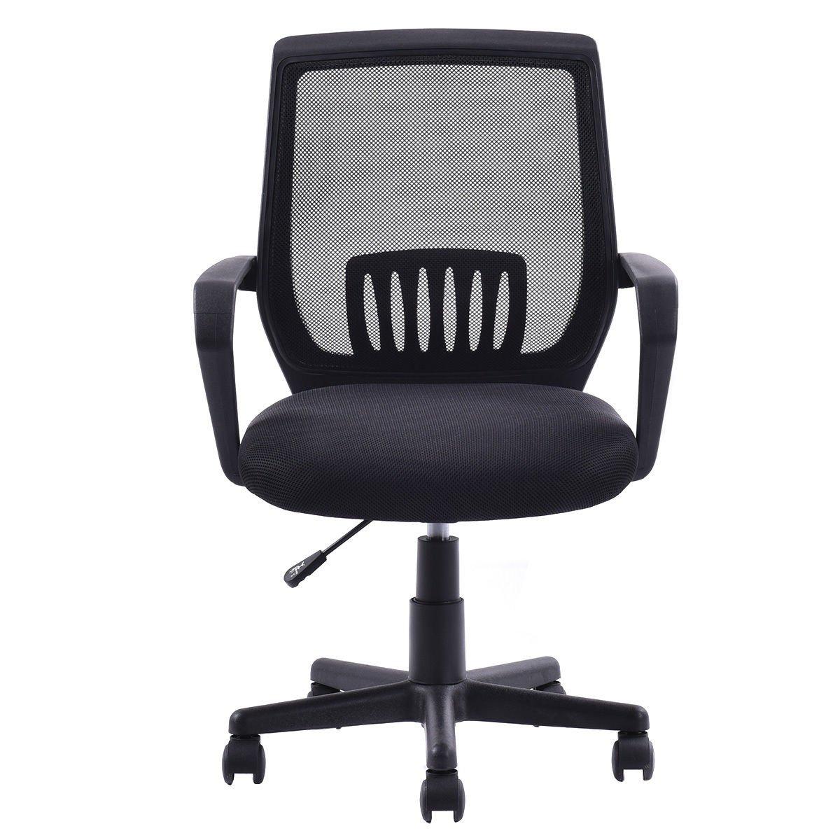 Modern Ergonomic Mid-back Mesh Computer Office Chair Desk Task Task Swivel Black by unbrand