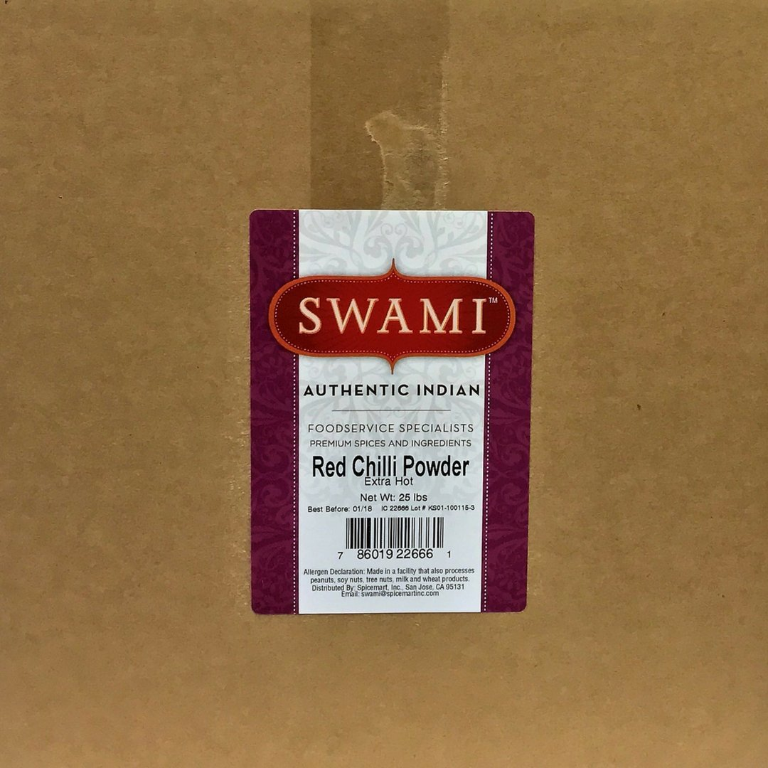 Swami Red Chilli Powder Extra Hot, 25Pound by Spicemart