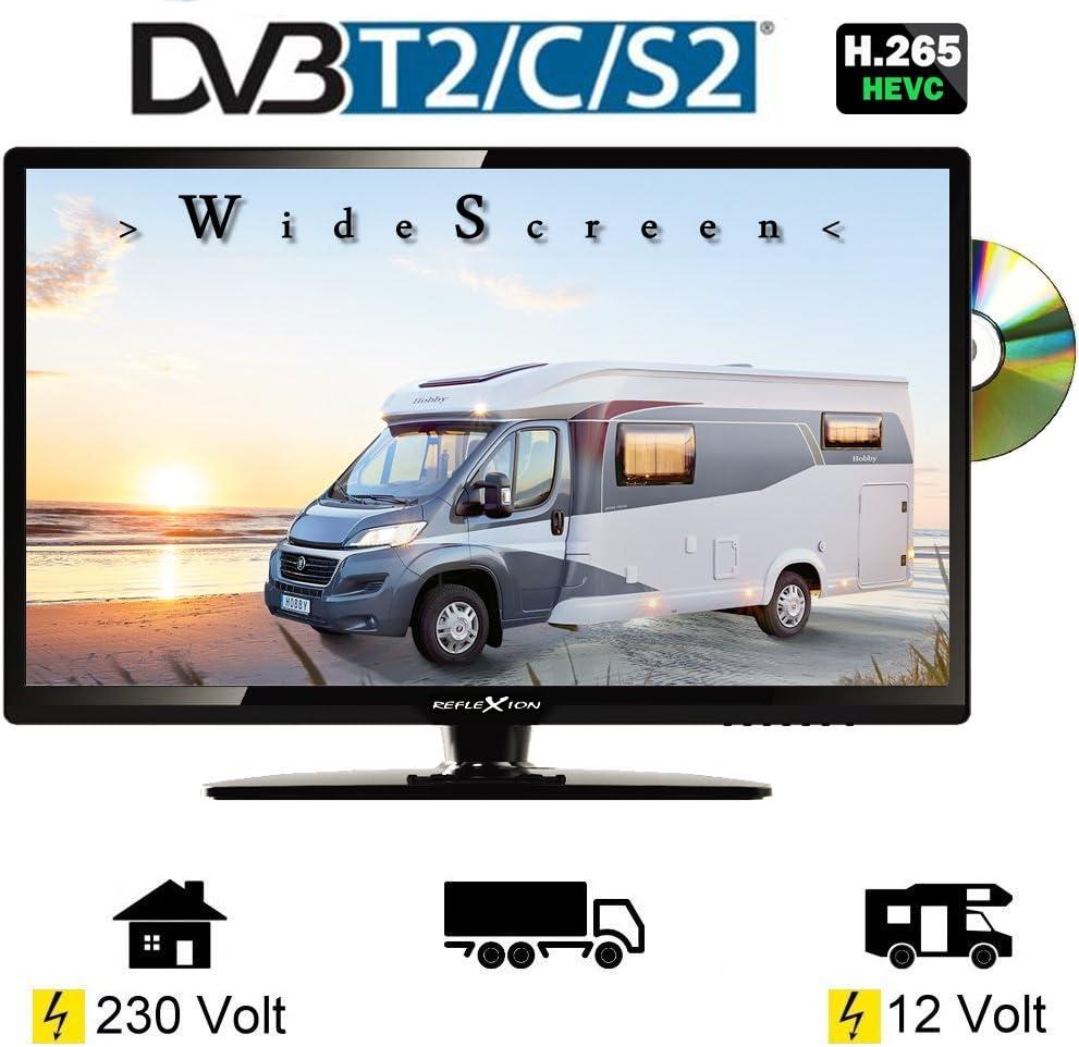 Reflexion LDD 3286 Wide Sceen LED televisor con 32 pulgadas 80 cm, DVB-S2, DVB-T, DVB-C, DVD, USB, 230 V + 12 V, eficiencia energética clase A Solo 31 W, ángulo de visión