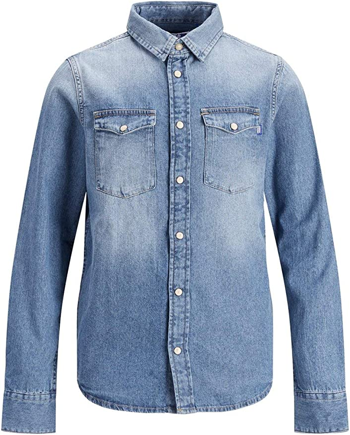 Jack & Jones Junior Jjewestern Sheridan Shirt L/S Noos Jr Camisa Vaquera para Niños: Amazon.es: Ropa y accesorios