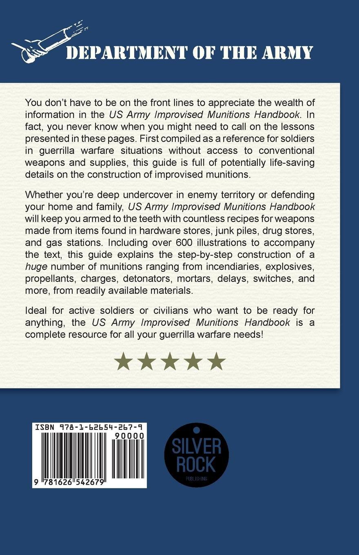 U.S. Army Improvised Munitions Handbook: Amazon.co.uk: Army: 9781626542679:  Books