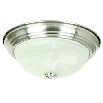 Yosemite Home Decor JK10111SN 2Light Flush Mount with Marble
