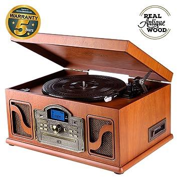 Lauson CL612 Tocadiscos Vinilo Vintage | Bluetooth | USB ...