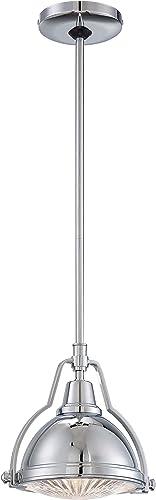 Minka Lavery Urban Industrial Pendant Ceiling Lighting 2252-77, Mini Pendant Round, 1 Light, Chrome