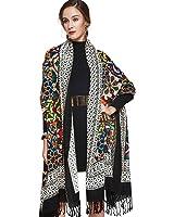 DANA XU 100% Pure Wool Women Winter Large Scarf Pashmina