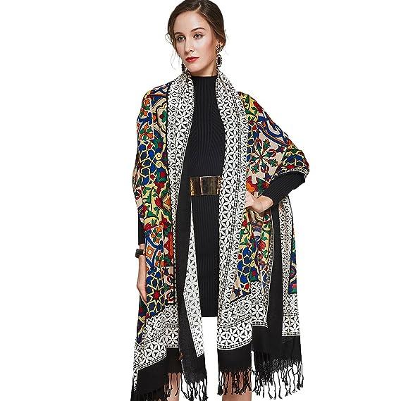 dana xu 100 pure silk large size women soft pashmina shawls and