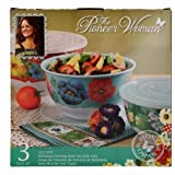 "The Pioneer Woman ""Lily Dot"" Melamine Mixing Bowl Sets with Lids - Set of (3)"