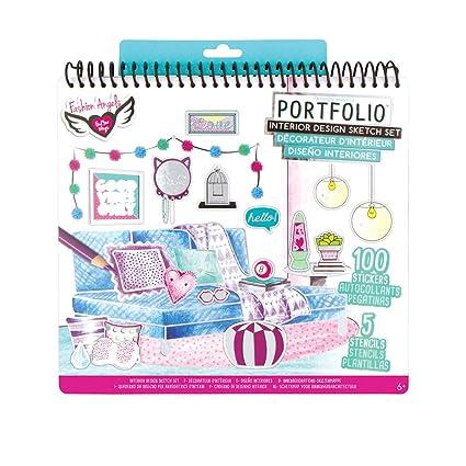 amazon com fashion angels interior design sketch portfolio toys rh amazon com