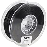 ZIRO 3D Printer Filament PLA 1.75 1KG(2.2lbs), Dimensional Accuracy +/- 0.05mm, Black