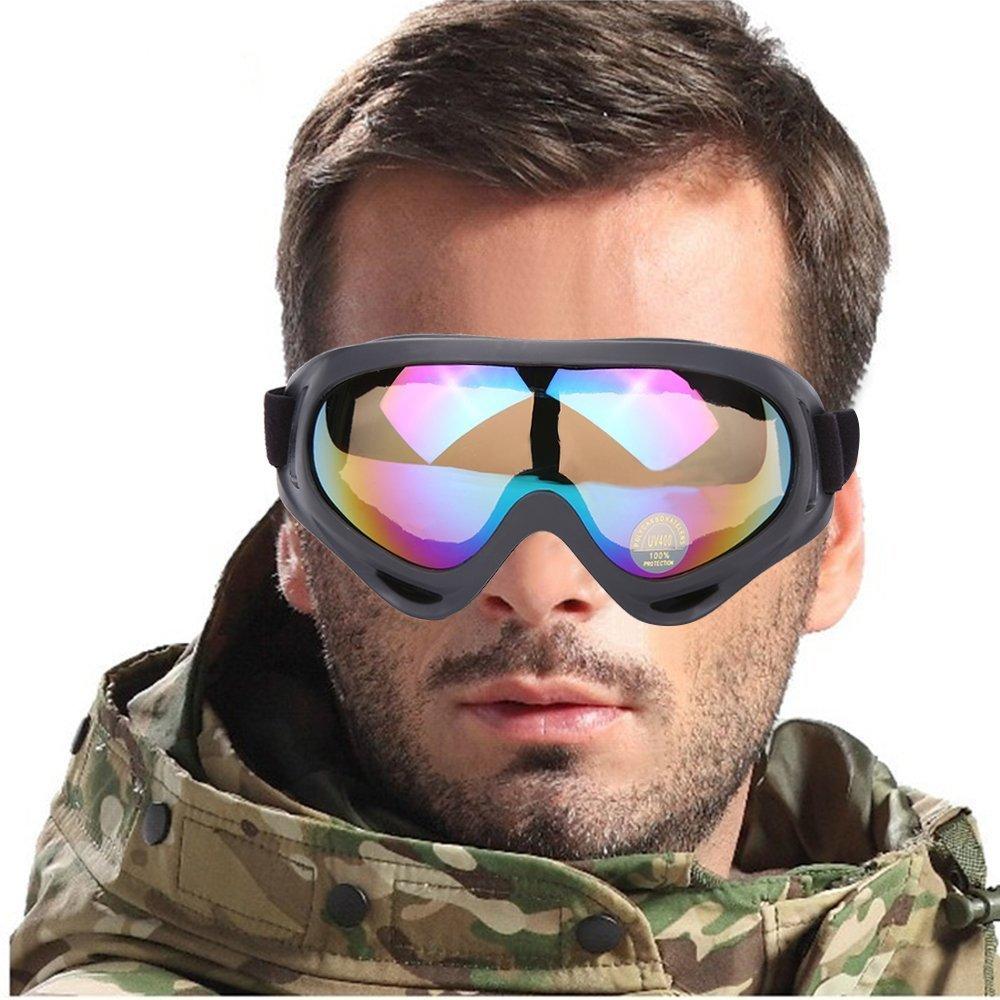 c2dd6a419df400 Lunettes de Ski Anti-brouillard Lentille 100% UV400 Protection lunettes Ski  Snowboard Lunettes Motoneige Moto Lunettes de protection Lunettes Lens ...