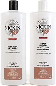 Nioxin System 3 Duo Pack, Cleanser 1L and Scalp Therapy Revitalising Conditioner 1L