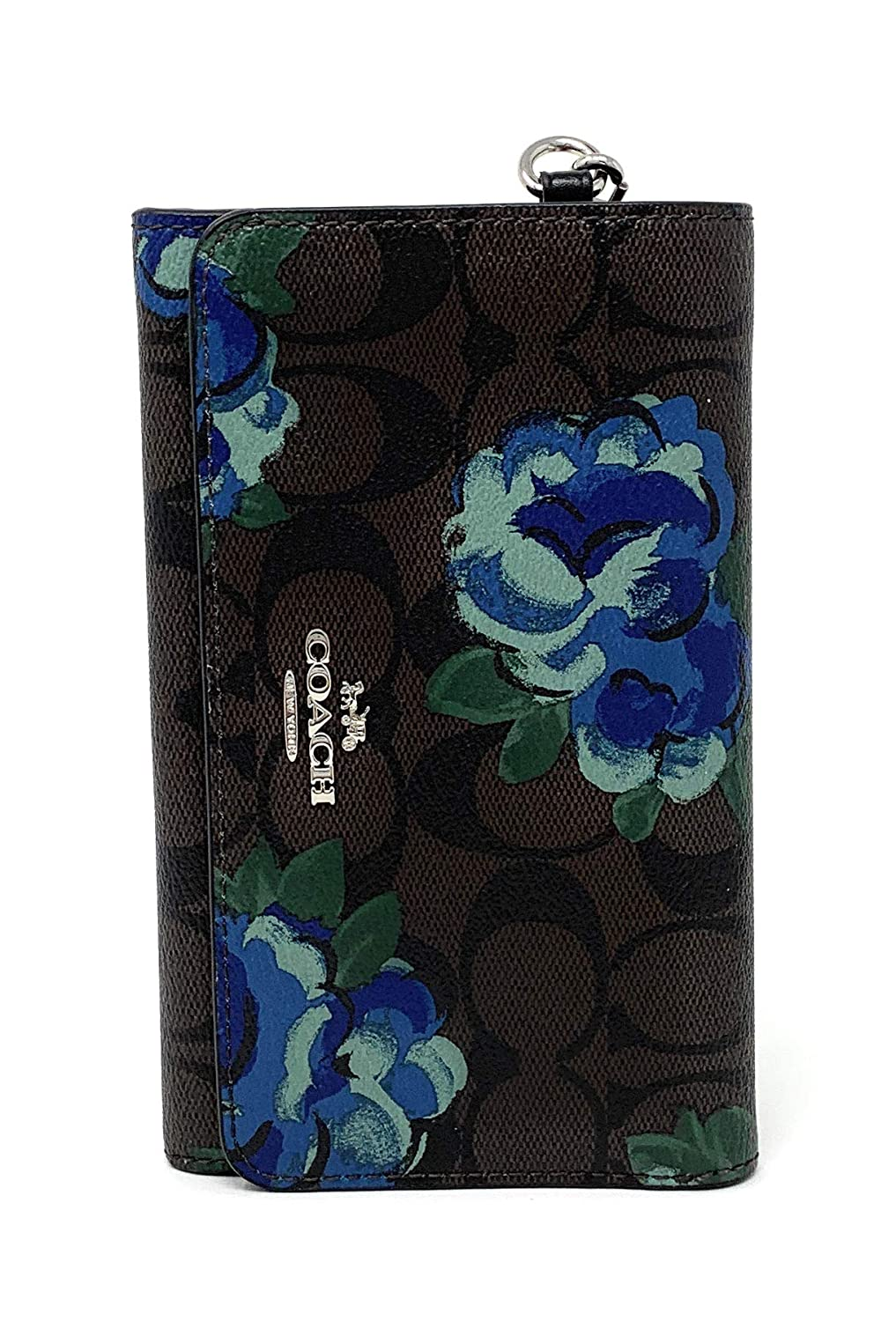 c95776785e4e Coach Flap Phone Wallet In Signature Canvas With Jumbo Floral Print (BROWN  BLACK MULTI SILVER) at Amazon Women s Clothing store