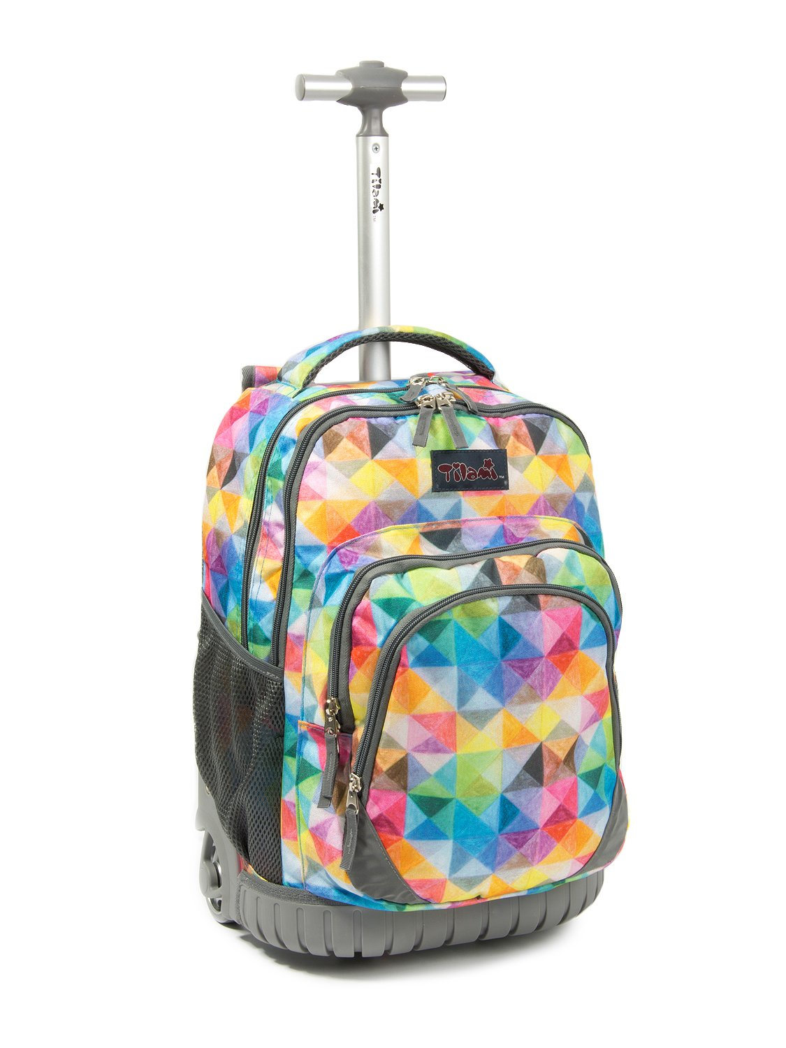 38722722f1a3 Tilami New Antifouling Design 18 Inch Wheeled Rolling Backpack Luggage and  Lunch Bag,Tartan 1