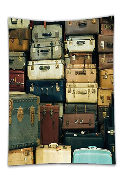 chaoran mantel colección Vintage decoración regalo viajes Mapa decorativo con piel Vintage de maleta envejecido Nostalgia