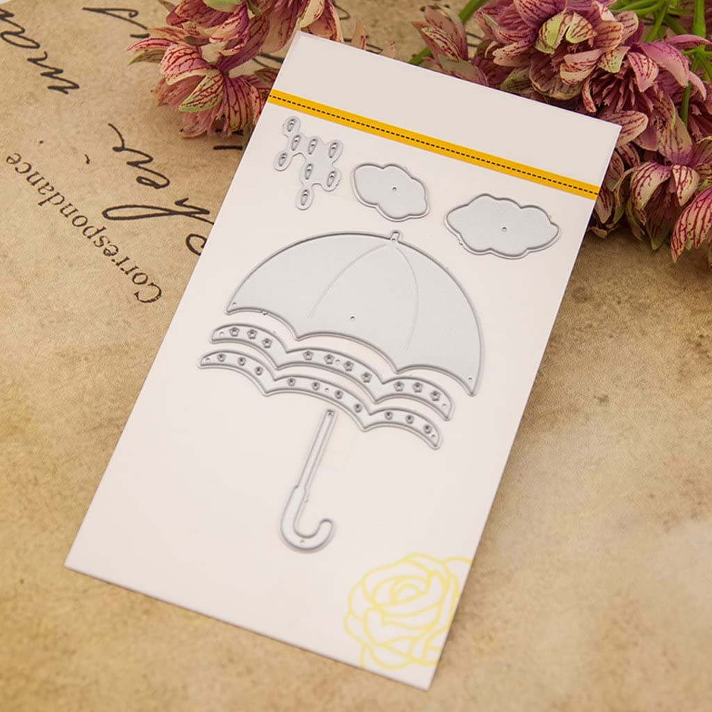 Umbrella Girl Metal Cutting Dies Stencil Scrapbooking DIY Album Stamp Paper n