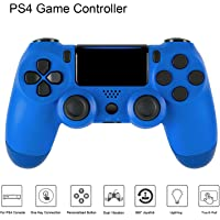 PS4 Controller DualShock 4 Wireless Bluetooth Gamepad Joystick Game Joypad Accessories for Sony Playstation 4 with USB Charging Cable (Blue)