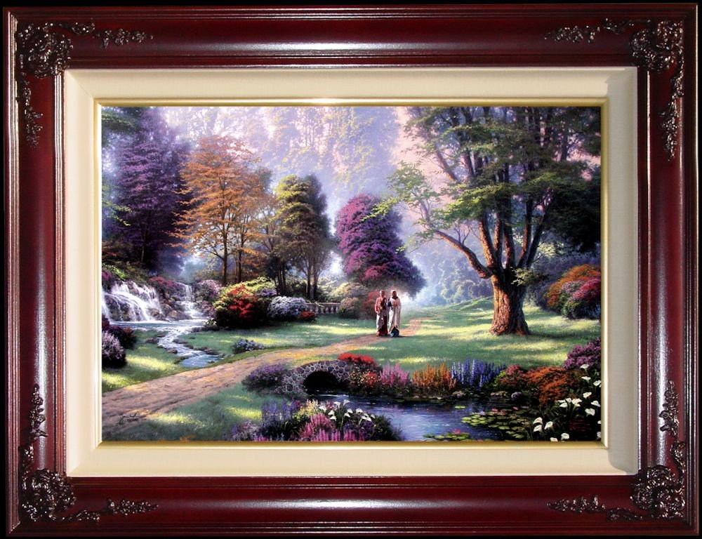 Walk of Faith by Thomas Kinkade 24'' x 36'' Gallery Proof by Thomas Kinkade Walk of Faith