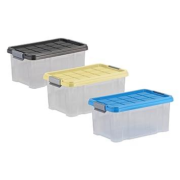 Axentia Aufbewahrungsbox Mit Deckel Stapelbox Aus Kunststoff 5