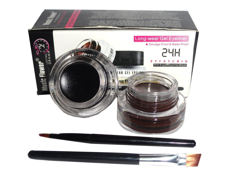 Music Flower Long Lasting Gel Eyeliner, Black and Brown product image
