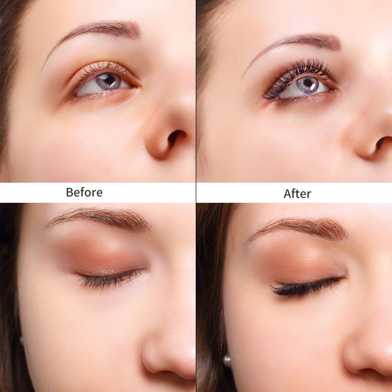Magnetic False Eyelashes, CBoner 3D Fiber Reusable Lashes Extension,Long Lasting Natural and Bushy Professional Eye Lash 【8Pack】 haiqian