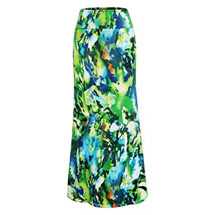 Maxi falda larga de cintura alta para mujer, estilo informal, con ...