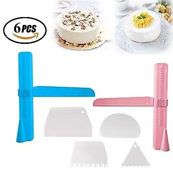 Reastar Kuchen Schaber 6pcs Einstellbar Cake Scrape Kuche