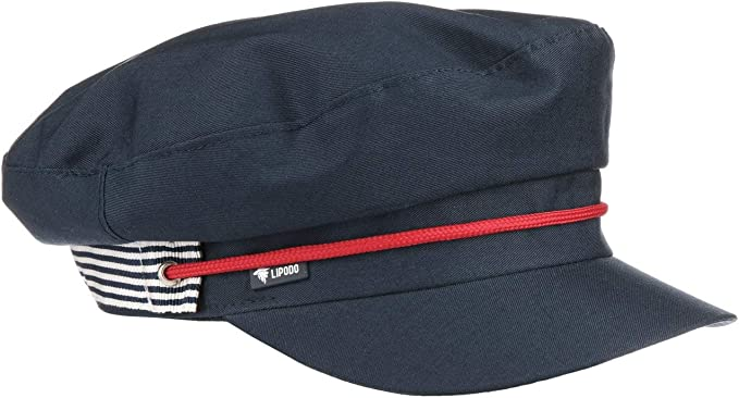 Lipodo Gorra Marinera Yachting Mujer - Made in Italy Gorro de ...