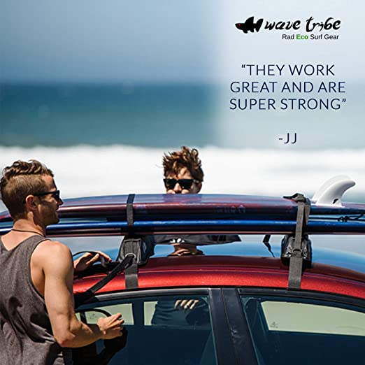 Surf Rack For Car >> Wave Tribe Eco Surfboard Straps Recycled Nylon Nickel Platted Cams Black 11 Lx 1 W