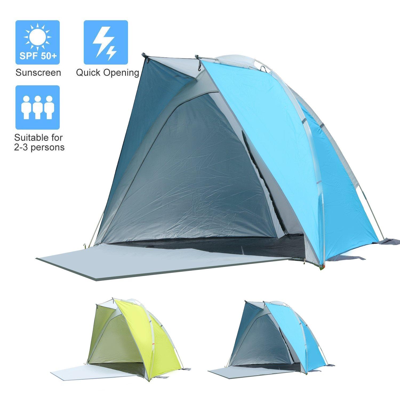 Tente de plage pare-soleil STARHOME pour 2personnes Green skylink