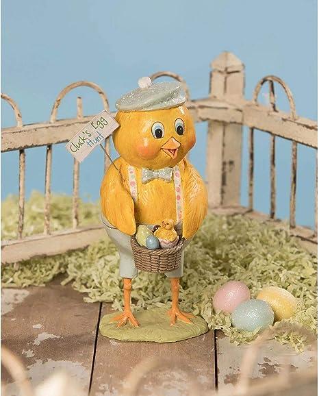Bethany Lowe Spring Easter Chick Cluck/'s Egg Hunt Retro Vntg Home Decor Figurine