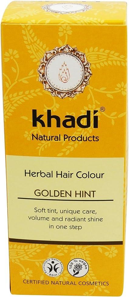KHADI Tinte Vegetal Dorado - Color y brillo duraderos - Libre ...