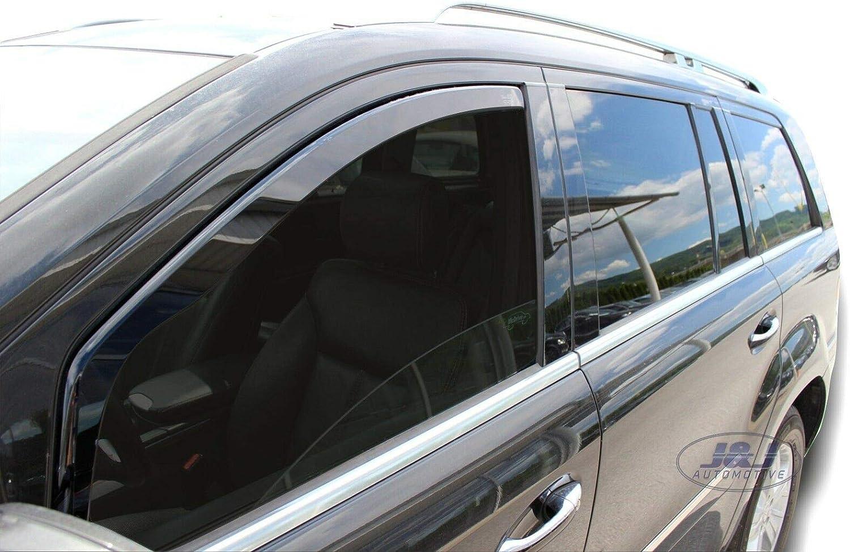 J/&J AUTOMOTIVE Windabweiser Regenabweiser f/ür Mercedes GL X164 5-t/ürer 2007-2013 2tlg HEKO dunkel