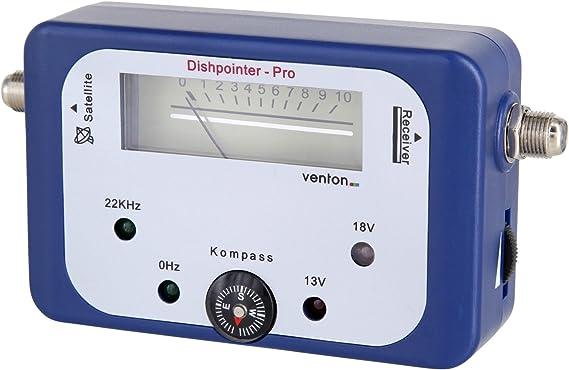 Venton Localizador de satélite HD digital de TV satélite Medidor de Sat Finder para instalaciones Sat camping Antena Parabólica como Señal Tester ...