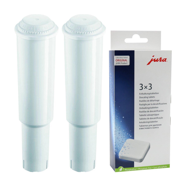 KOMBIPACK 6 x Reinigungstabletten 3 x JURA Claris WHITE Filterpatronen