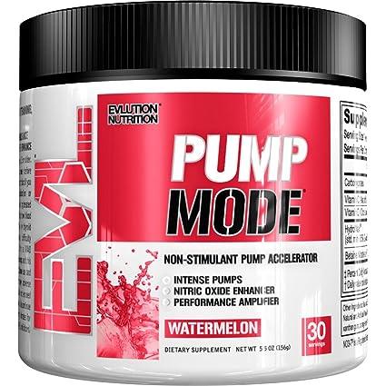 Evlution Nutrition PUMP MODE | Suplemento En Polvo De Oxido Nitrico Booster Vascular Para Un Bombeo