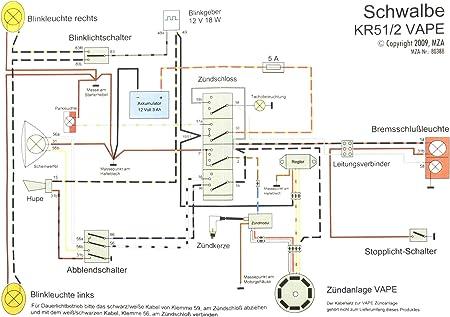 Kabelbaumsatz Set Schwalbe Kr51 2 12v Vape Inkl Schaltplan Auto