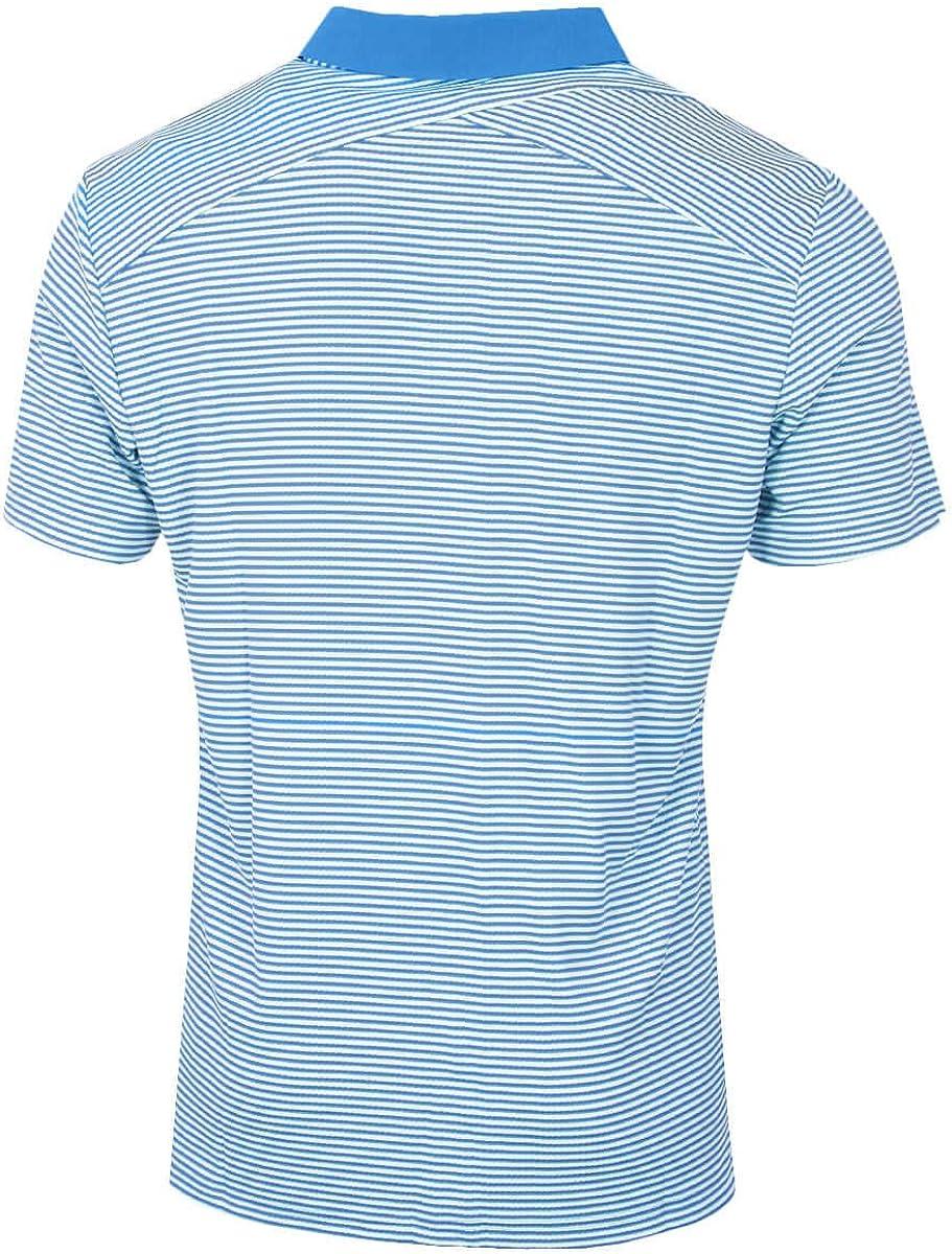 adidas Men's Climachill Tonal Stripe Polo Shirt Blue (Azul Dq2241)