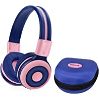 SIMOLIO Kids Headphones Bluetooth with 75dB,85dB,94dB Safe Volume for Hearing Protection, Wireless Headphone for Kids…