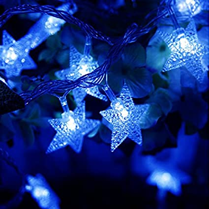 kobwa star string lights16ft 50 led diy fairy indooroutdoor christmas decorations glowing