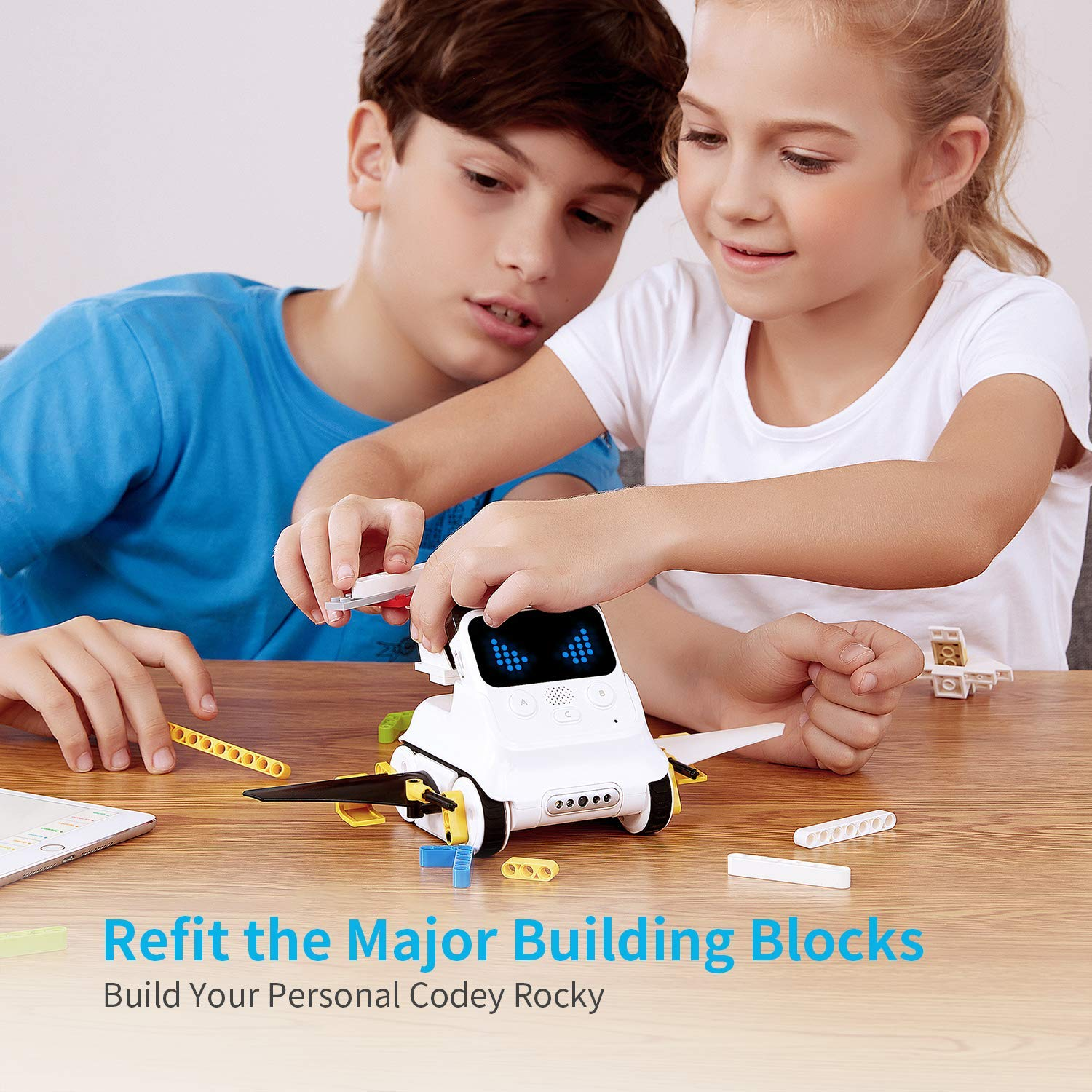 Makeblock Codey Rocky Programmable Robot Ages 6+, Fun Toys Gift to